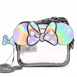 Translucent Holographic Glittery Cross-Body Purse
